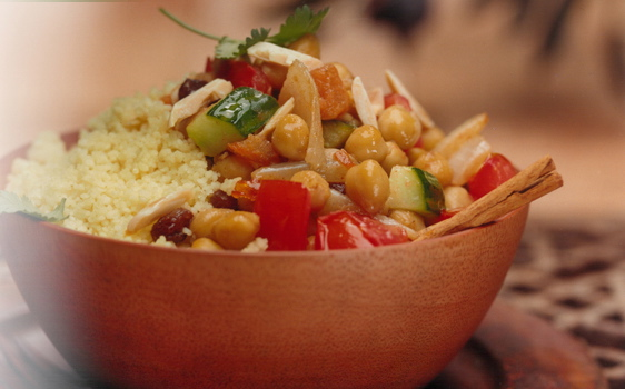 Moroccan Chickpeas & Couscous Salad