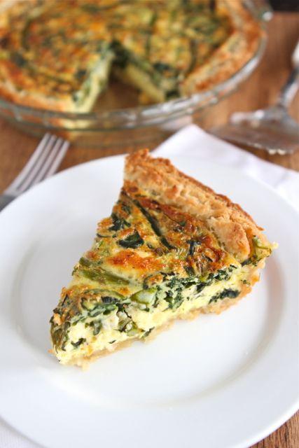 Asparagus, Spinach & Feta Quiche