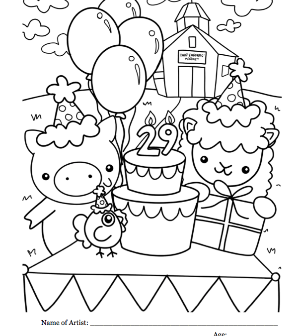 29 years! Kids' Club Colouring Contest