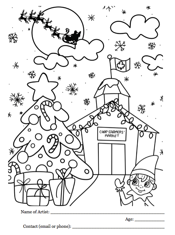 Christmas Colouring Contest for 2019! | Carp Farmers\' Market
