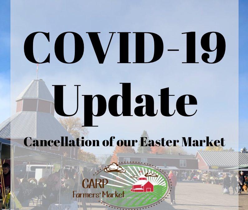 Easter Market cancelled